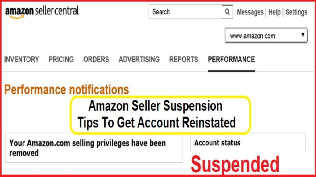 poor amazon seller performance